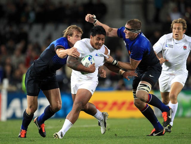 Manu Tuilagi, centre, in action in the World Cup 2011 quarter-final