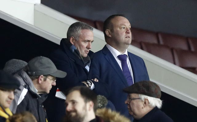 Lambert watched last night's game from the stand