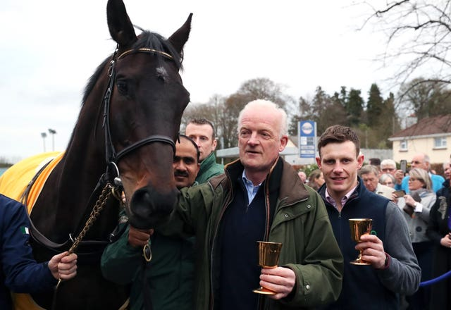 Willie Mullins and Paul Townend with Gold Cup winner Al Boum Photo