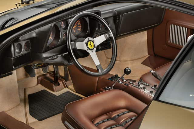 Gold Ferrari interior