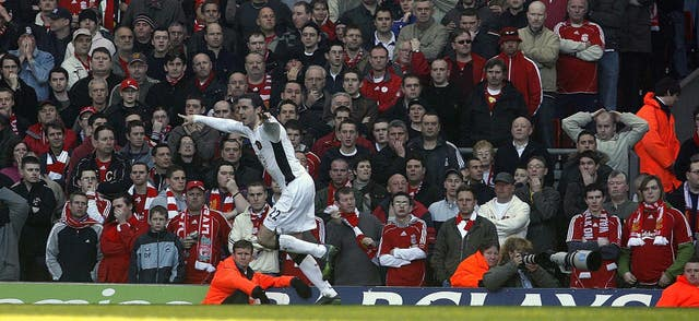One of O'Shea's most memorable moments came when he scored a last-gasp winner for Manchester United at Liverpool.