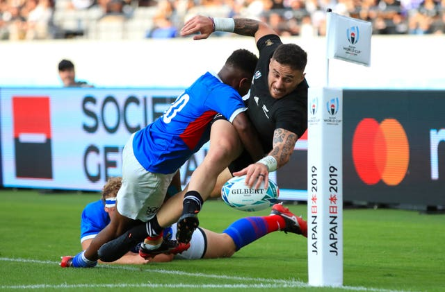 New Zealand ran in 11 tries as they demolished Namibia 71-9 at the Rugby World Cup in Japan.