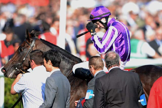 Camelot after being narrowly denied the Triple Crown in the St Leger six years ago