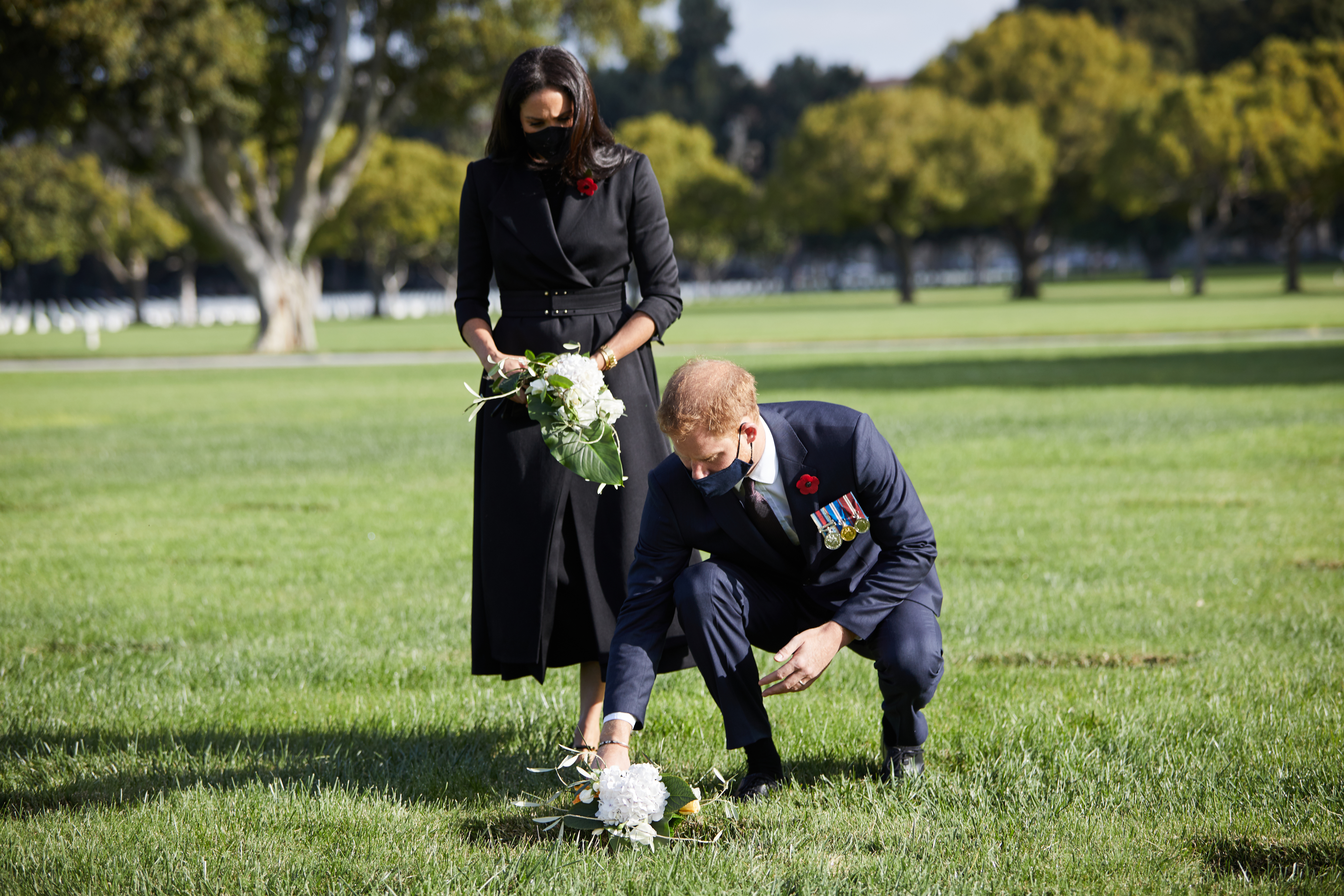 Harry and Meghan's 'personal' Remembrance Sunday visit at LA cemetery