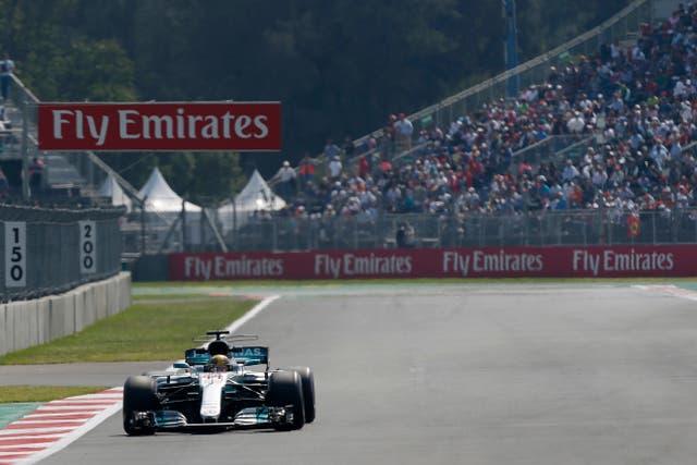 Lewis Hamilton in practice ahead of the 2017 Mexico Grand Prix