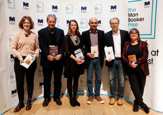All six shortlisted authors in the running for the 2017 Man Booker Prize for Fiction