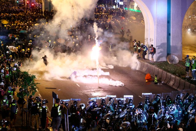 Clashes during protests in Hong Kong