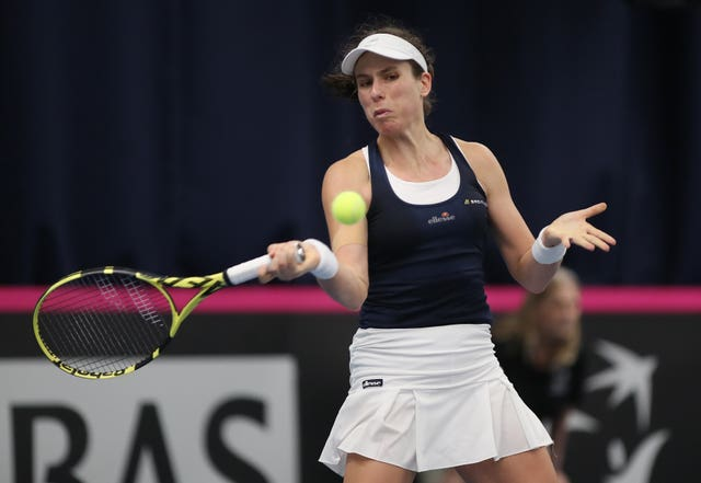 Johanna Konta sealed the win for Great Britain