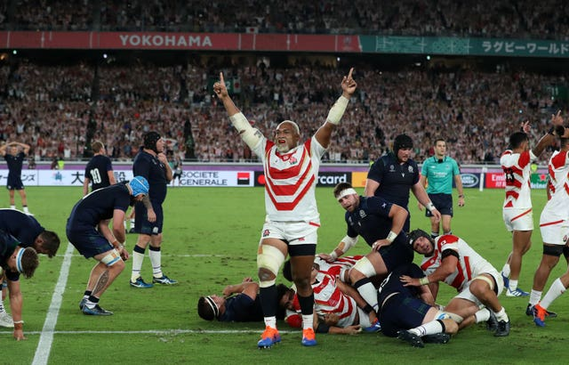 Japan stunned Scotland to reach the quarter-finals