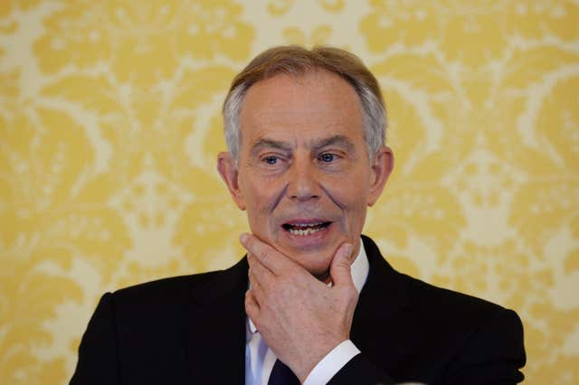 Tony Blair began the peace process scheme which saw 95 letters of comfort issued by the government (Stefan Rousseau/PA)