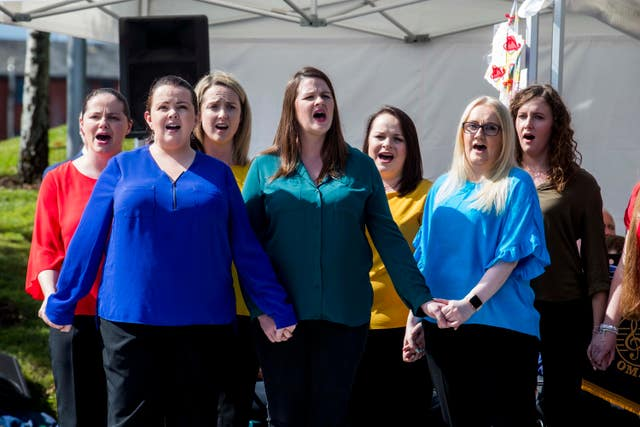 Omagh Community Choir performed at the Memorial Gardens
