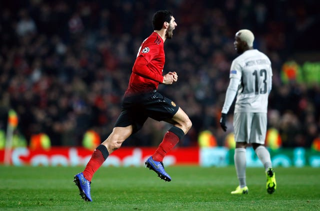 Marouane Fellaini's stoppage-time goal secured victory for United over Young Boys (Martin Rickett/PA).