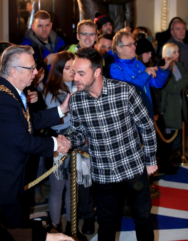 Ant McPartlin attending the Britain's Got Talent Photocall at the Opera House, Church Street, Blackpool (Peter Byrne/PA)