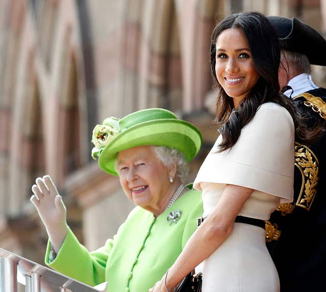 The Queen and Duchess of Sussex