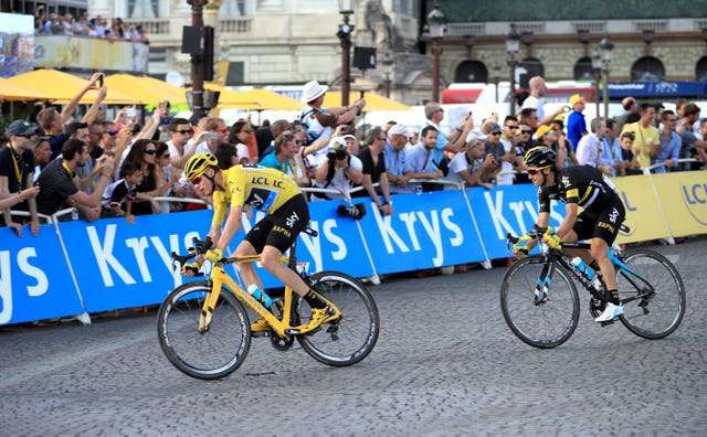Froome on his way to his third Tour victory, and second successive win in 2016