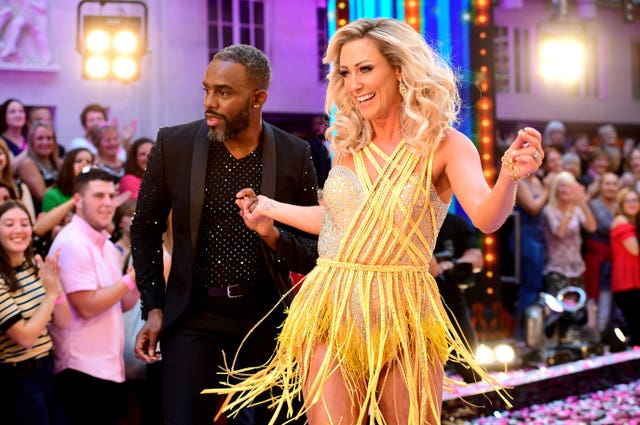 Charles Venn and Faye Tozer at the launch of Strictly Come Dancing