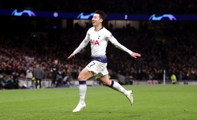 Son Heung-min scored the winner in Spurs' first-leg victory