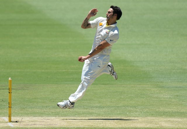 Australia's Mitchell Johnson bowls during day three of the Third Test at the WACA ground, Perth, Australia.