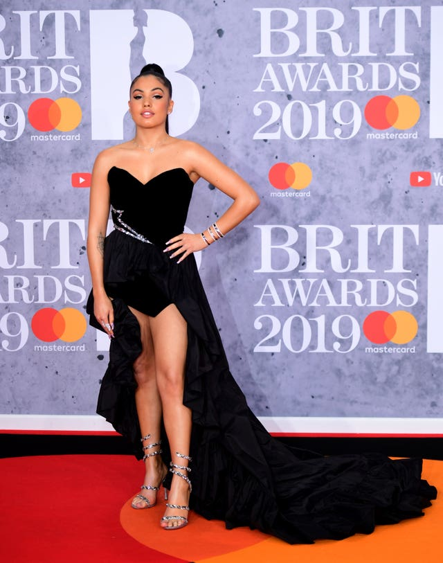 Mabel at the Brit Awards