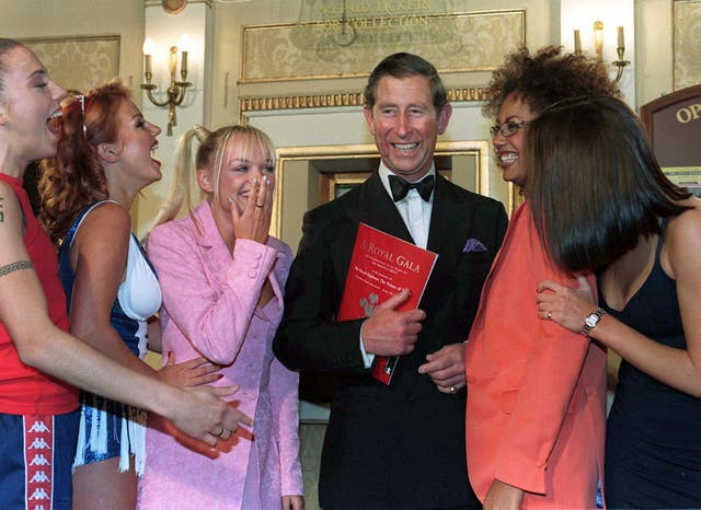 The Spice Girls and the Prince of Wales