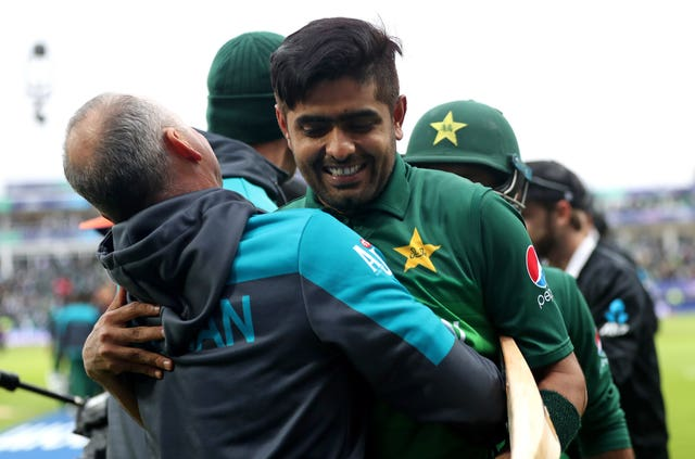 Babar Azam celebrates victory at Edgbaston