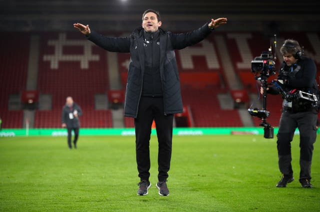 He celebrated following Derby's shoot-out win over Southampton in the FA Cup third round replay