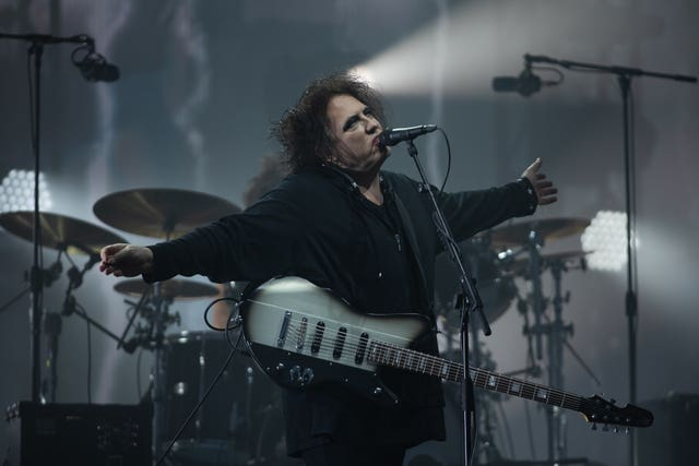 Robert Smith of The Cure, who closed the festival on Sunday