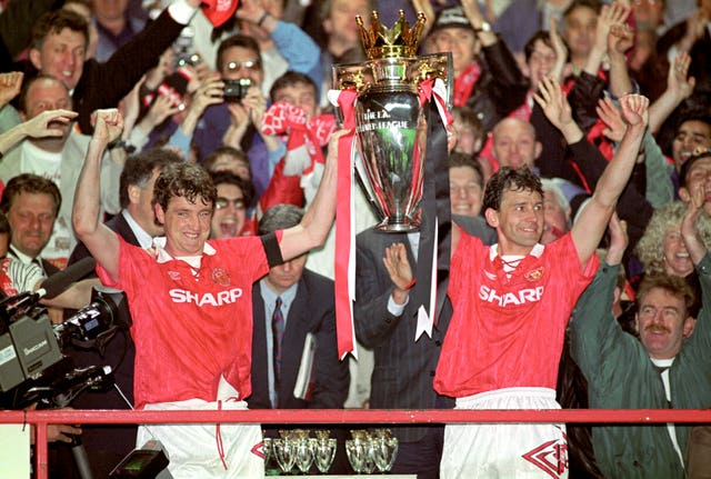 Manchester United winning the title in 1993