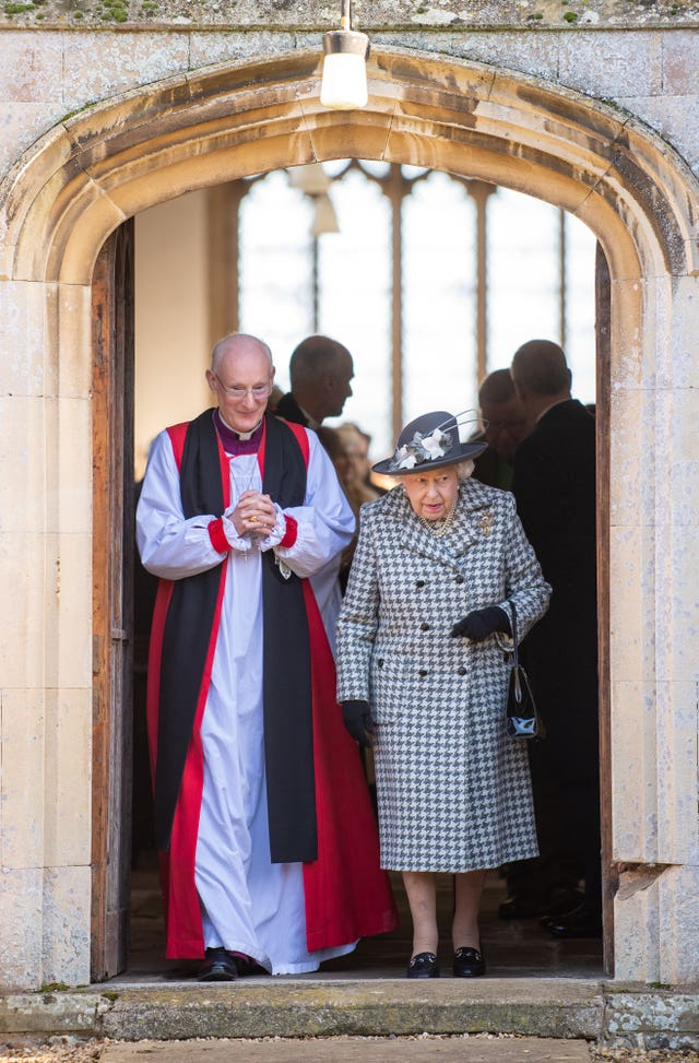 Royals attend church