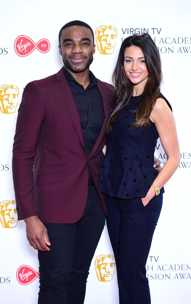 Ore Oduba and Michelle Keegan announce the nominations for the Virgin TV British Academy Television Awards at Bafta in London (Ian West/PA)