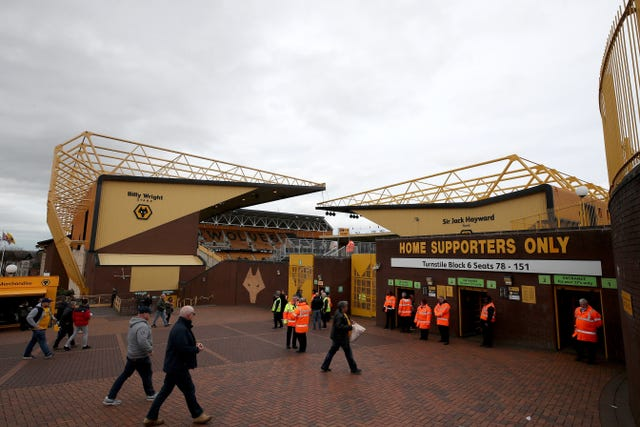 The Molineux's capacity is 31,700 (Nick Potts/PA Images)
