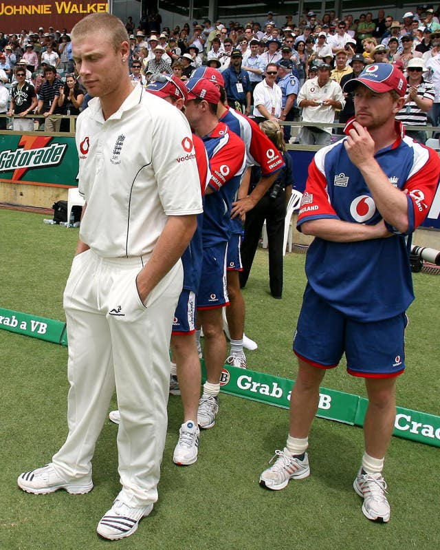 England players show their disappointment after the Ashes are lost