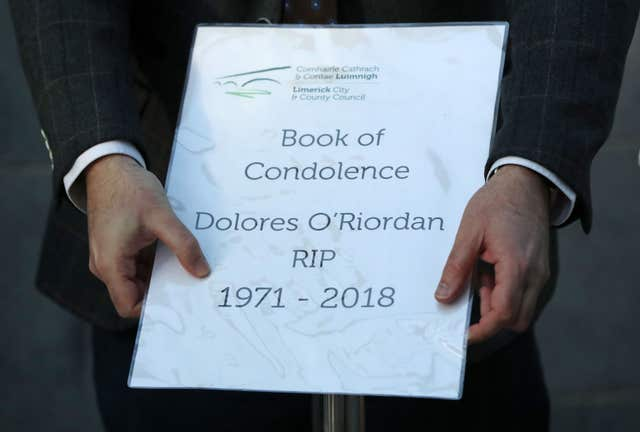 A book of condolences for Cranberries singer Dolores O'Riordan (Niall Carson/PA)