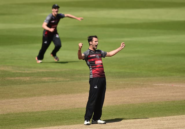Somerset all-rounder Lewis Gregory blasted 29 not out from 11 balls in England's warm-up defeat against a New Zealand XI (Joe Giddens/PA)