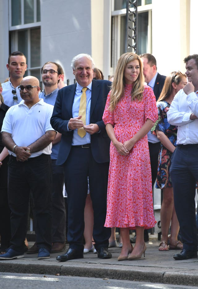 Carrie Symonds Wears 120 Ghost Dress At Downing Street And You
