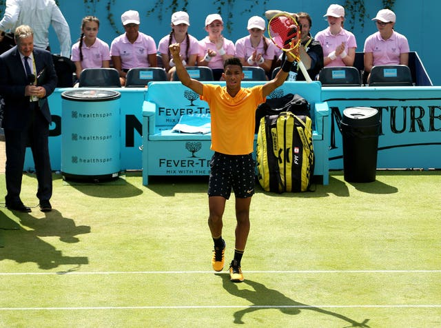 Felix Auger-Aliassime eased into the semi-finals