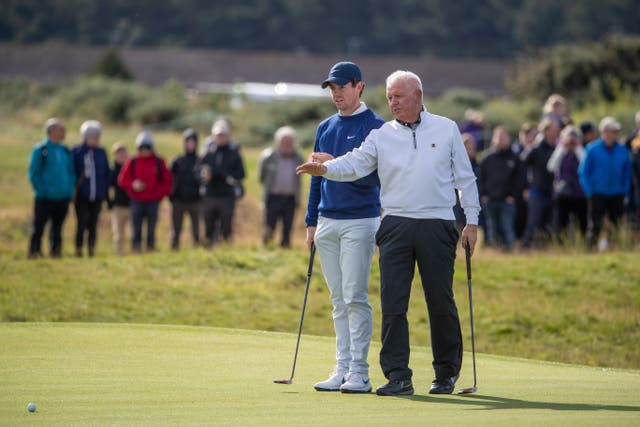 Rory McIlroy took advice from his dad Gerry at the Alfred Dunhill Links