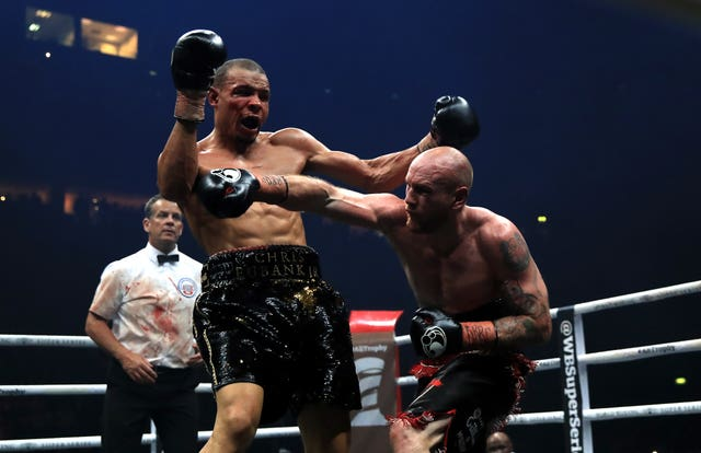 Chris Eubank Jr (left) was beaten by George Groves (right) (Peter Byrne/PA)