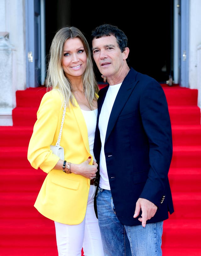 Antonio Banderas and his girlfriend Nicole Kimpel