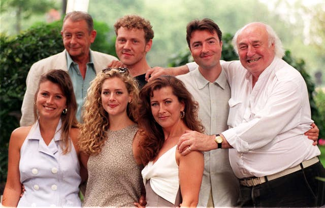 Bill Maynard with Heartbeat cast