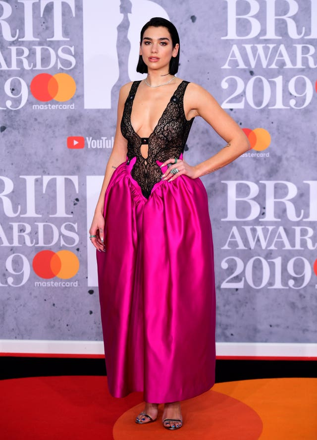 Dua Lipa on the red carpet