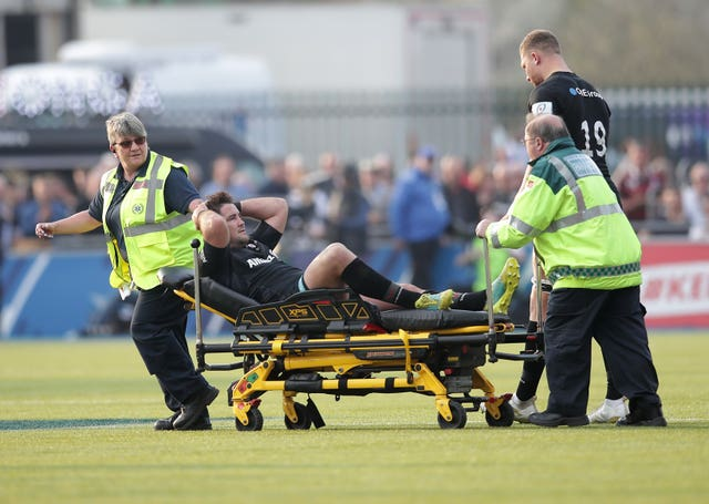 Barritt was injured during the quarter-final clash with Glasgow