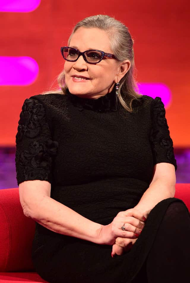 Carrie Fisher died in December 2016