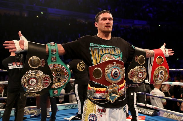 Oleksandr Usyk, pictured, was praised by Bellew (Nick Potts/PA)