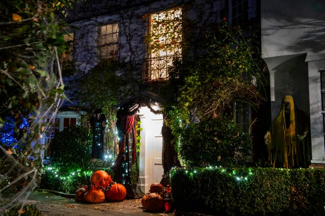 Halloween decorations outside Jonathan Ross's house