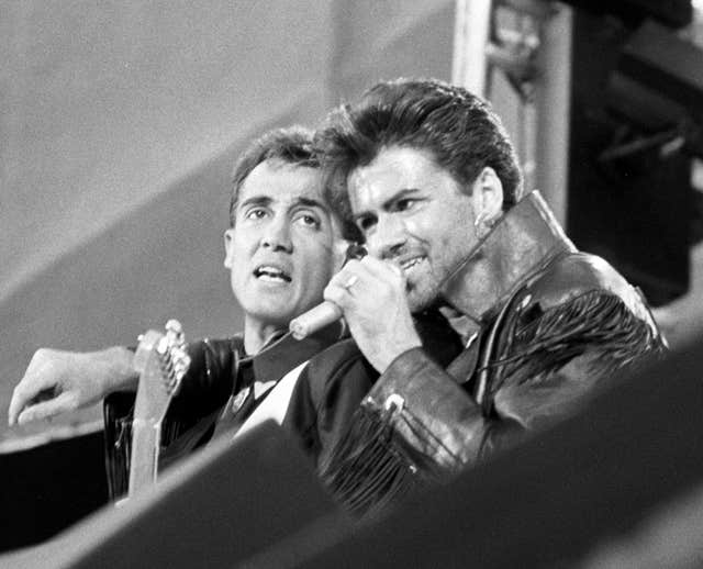 Wham! on stage  (PA)