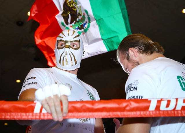 Tyson Fury is playing up to the Mexican theme in Las Vegas