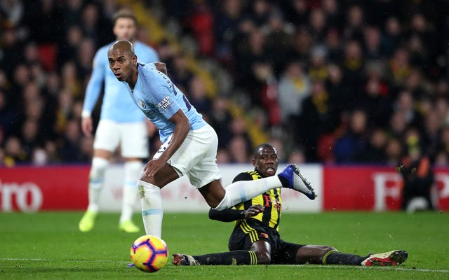 Fernandinho, left, has been crucial to Manchester City