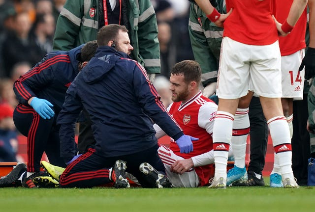 Calum Chambers is sidelined with a knee injury