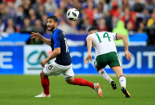 Nabil Fekir, left, in action for France against the Republic of Ireland